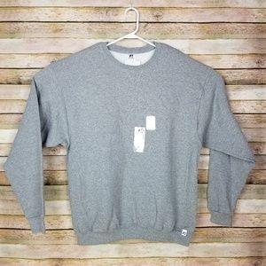 Mens Russell Athletic Crewneck Gray Sweatshirt XL